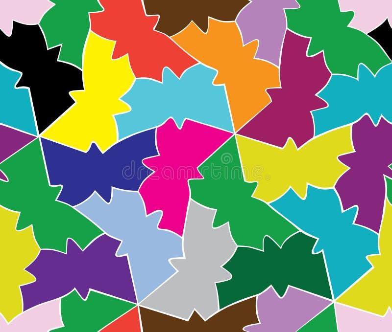 Безшовная картина влюбленности геометрической бабочки иллюстрация штока