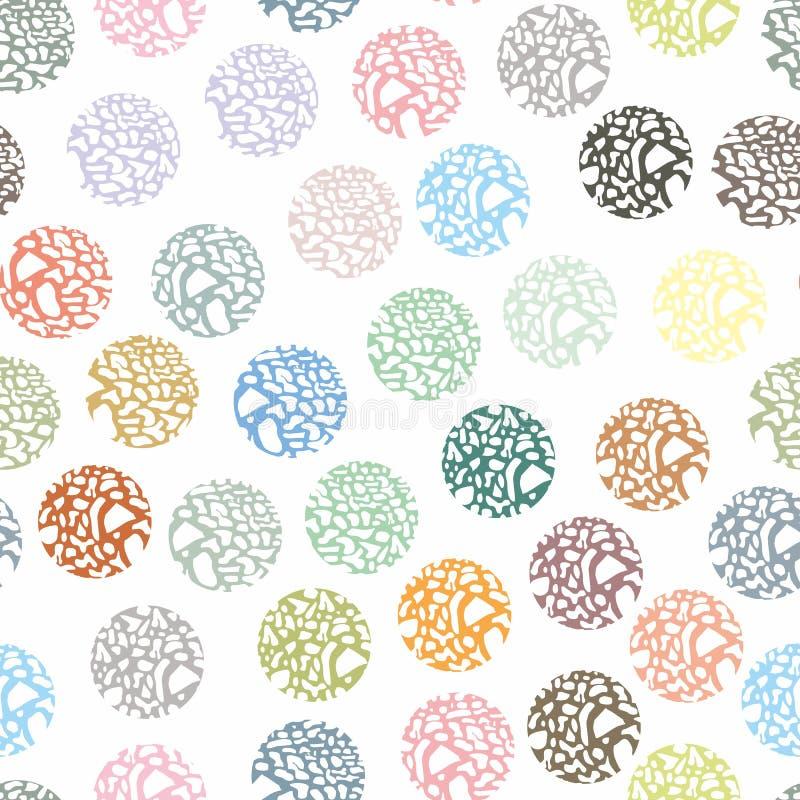 Безшовная картина в кругах селективно Картина для упаковки иллюстрация штока