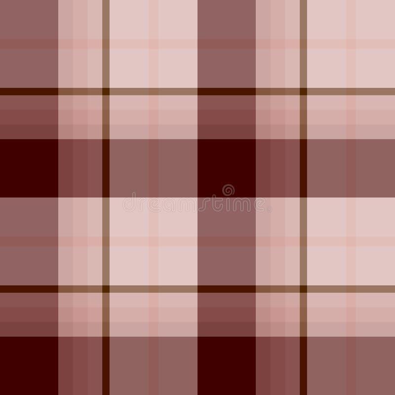 Безшовная картина в небезрассудном свете - пинке и vinous цветах для шотландки, ткани, ткани, одежд, скатерти и других вещей иллюстрация вектора