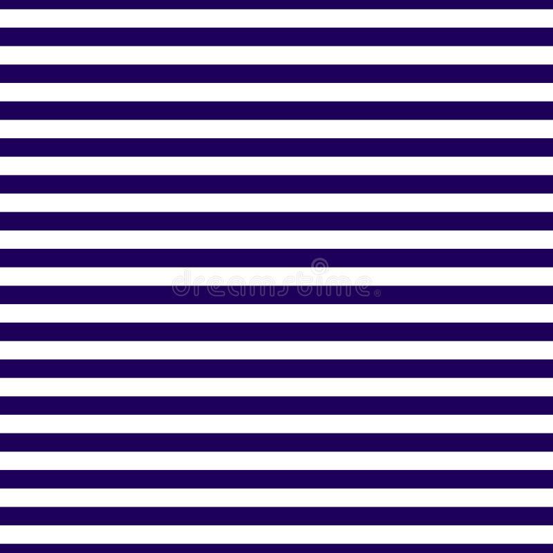 Безшовная картина горизонтальных синих нашивок предпосылка линейная вектор стоковые фотографии rf