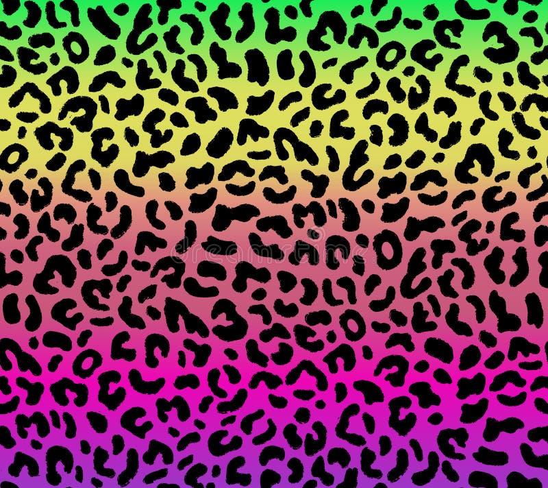Безшовная картина леопарда градиента иллюстрация вектора