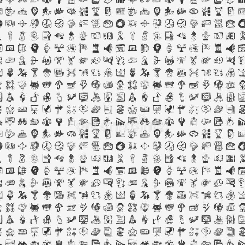 Безшовная картина дела doodle иллюстрация штока