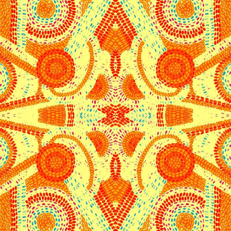Безшовная картина заплатки Орнамент для украшения ткани ora бесплатная иллюстрация