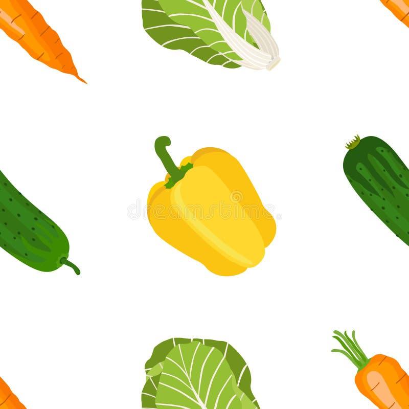 Download Безшовная картина зрелых овощей от сада Желтое Pepp Иллюстрация штока - иллюстрации насчитывающей еда, плодоовощ: 81802318
