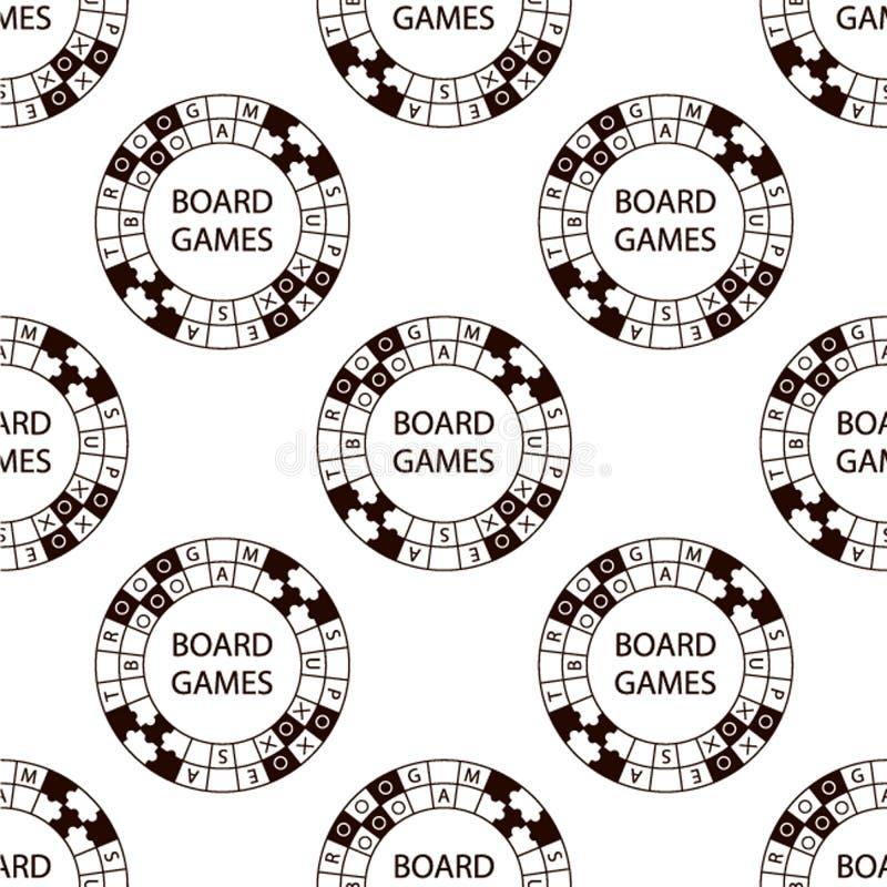 Безшовная картина игры логотипа круга вектора супер на белизне иллюстрация вектора