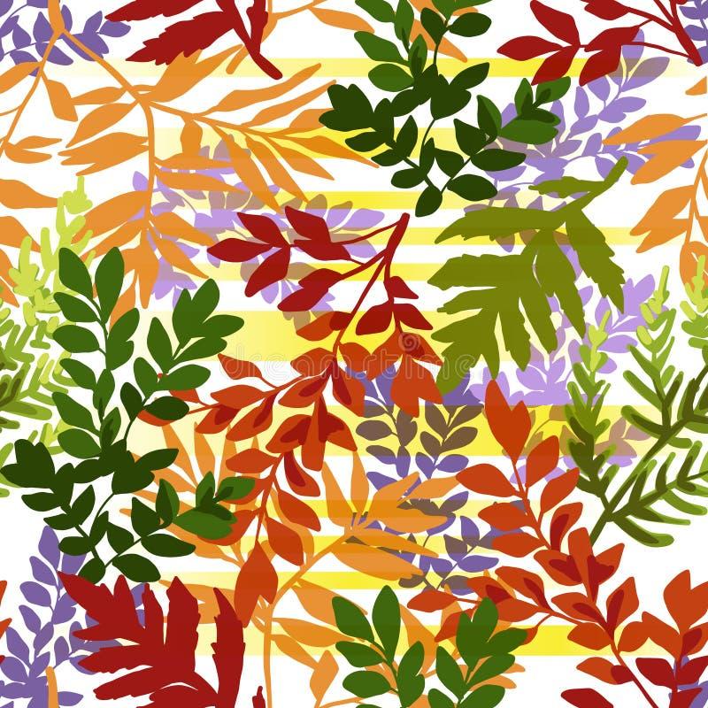Безшовная картина листьев осени бесплатная иллюстрация