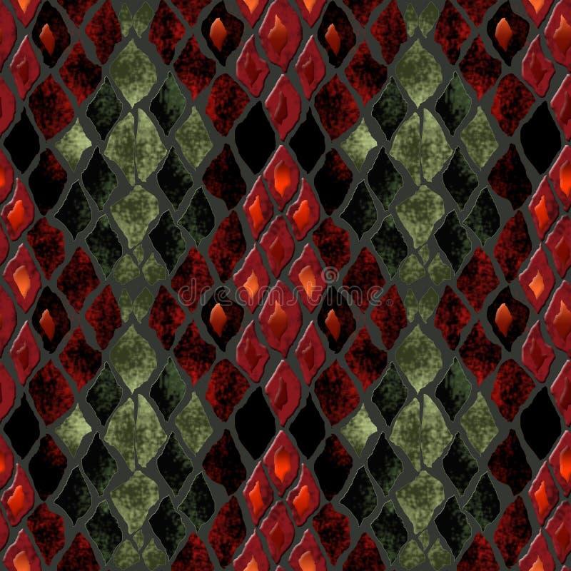 Безшовная картина кожи змейки иллюстрация вектора