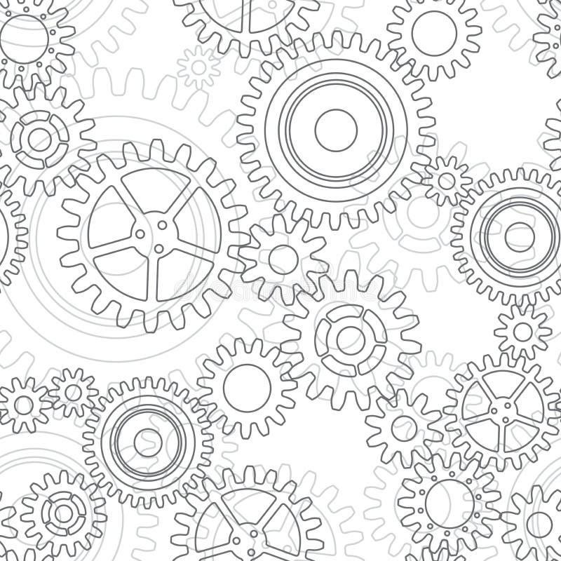 Безшовная картина колес шестерни бесплатная иллюстрация