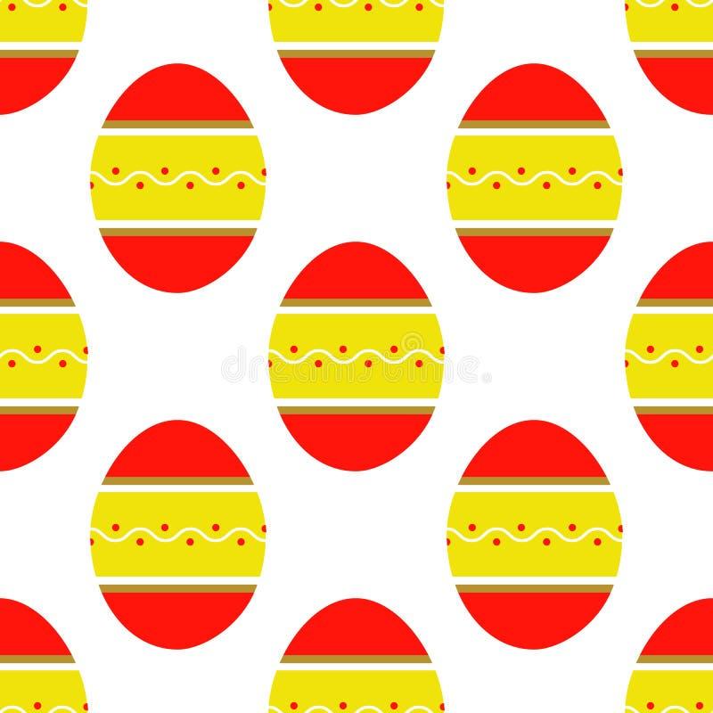 Безшовная картина красочных ярких украшенных яя иллюстрация вектора