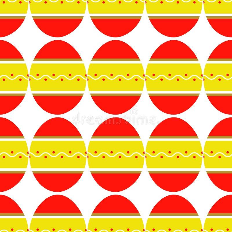 Безшовная картина красочных ярких украшенных яя бесплатная иллюстрация