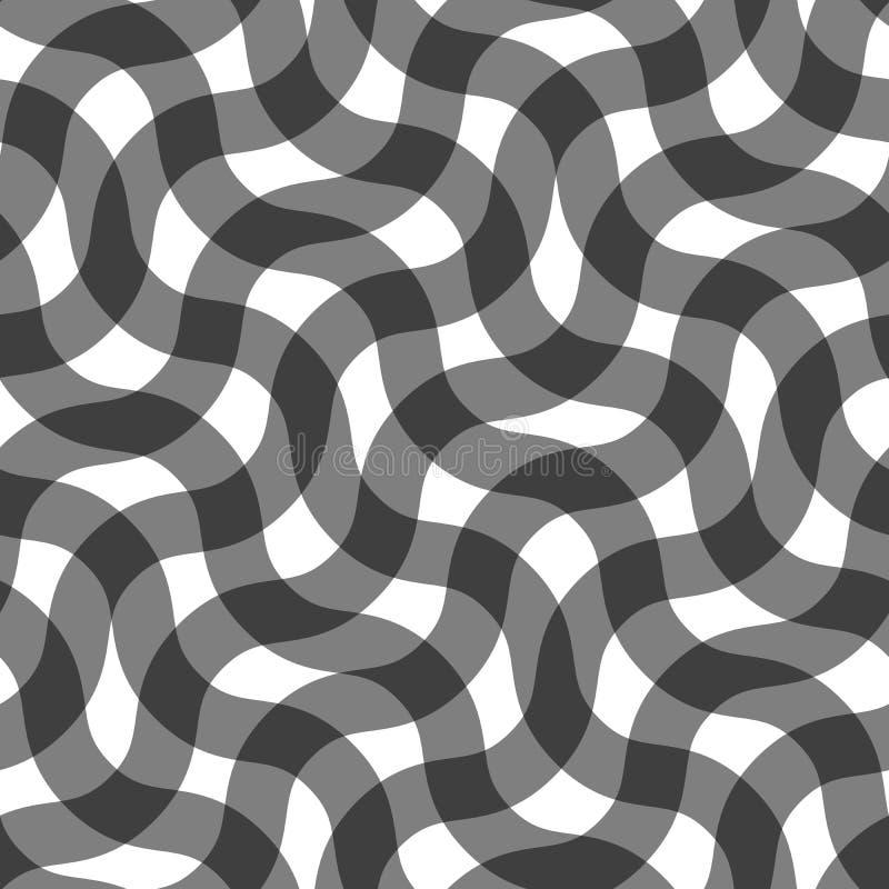 Безшовная картина круговых линий геометрические обои Необыкновенная решетка иллюстрация вектора