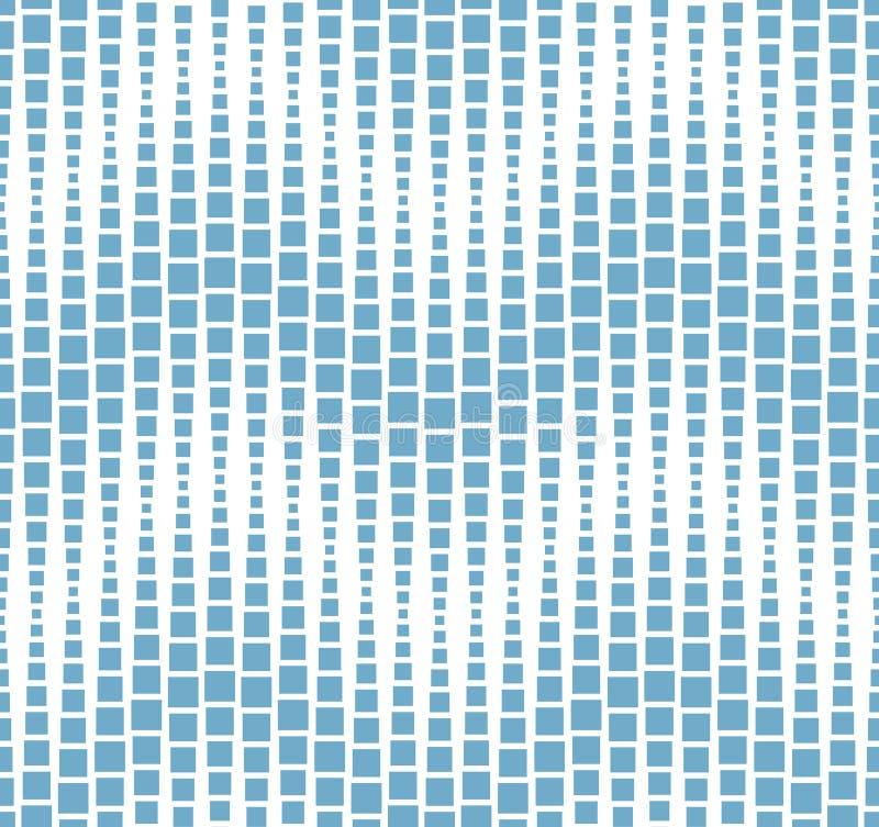 Безшовная картина на белой предпосылке Имеет форму волны Состоит из геометрических элементов в сини иллюстрация штока