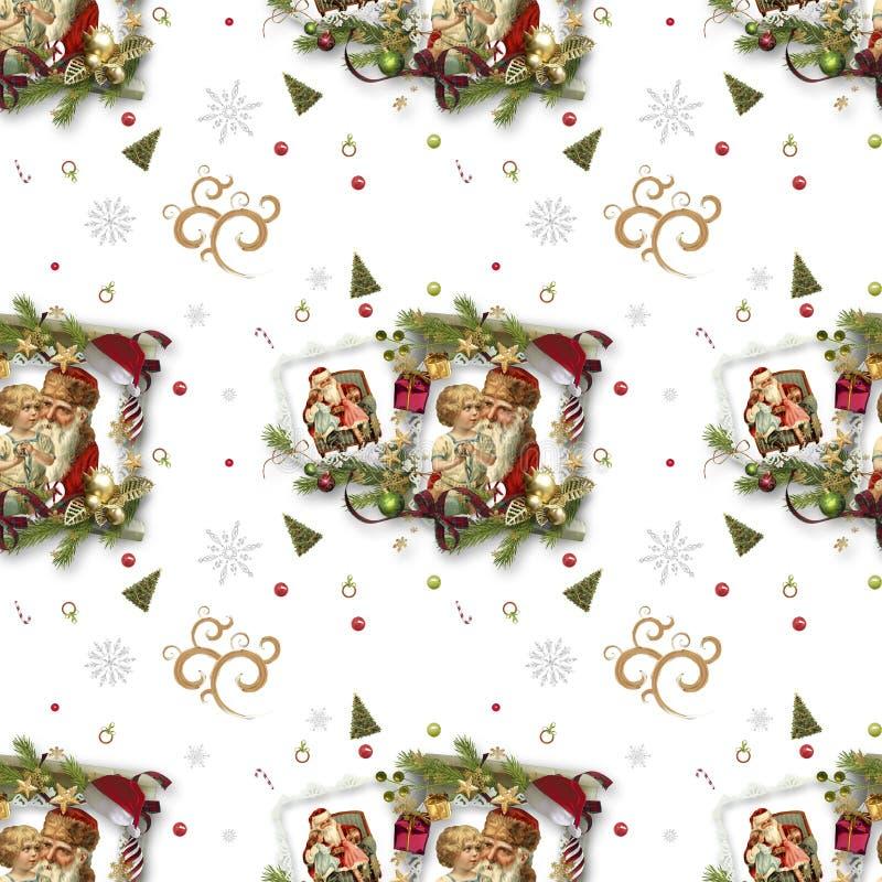 Безшовная картина на теме рождества стоковая фотография rf