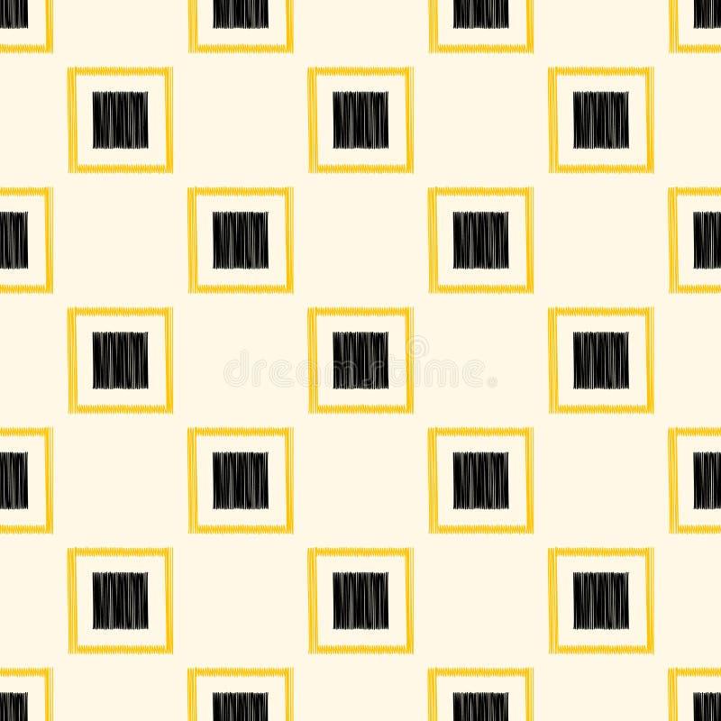 Безшовная картина обоев квадрата потехи иллюстрация штока