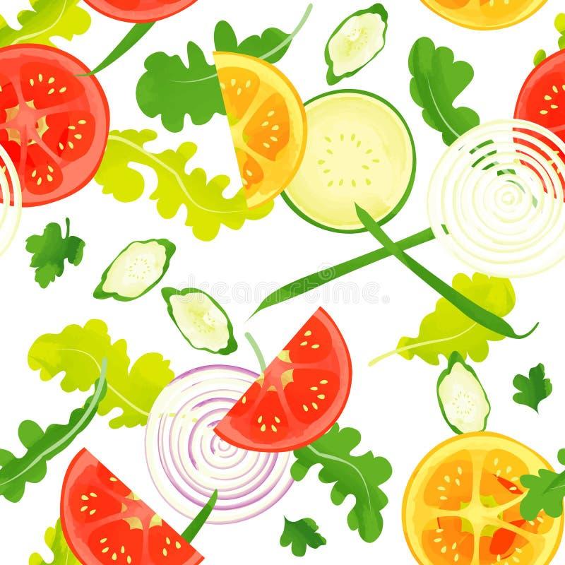 Безшовная картина овощей иллюстрация штока