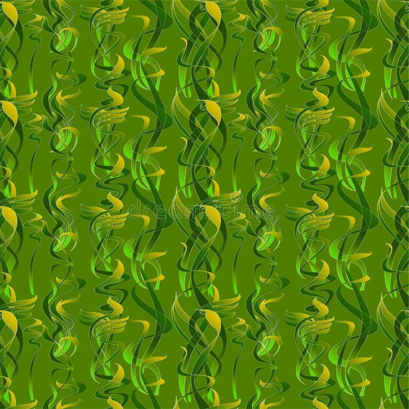 Безшовная картина от декоративной травы стоковое изображение rf