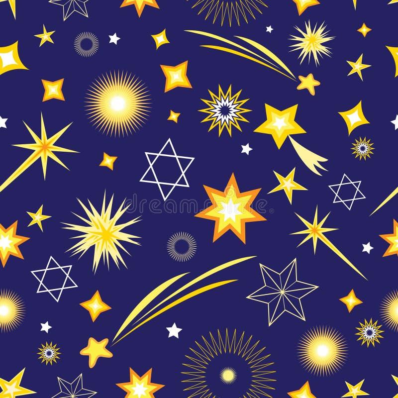 Безшовная картина от различных звезд бесплатная иллюстрация