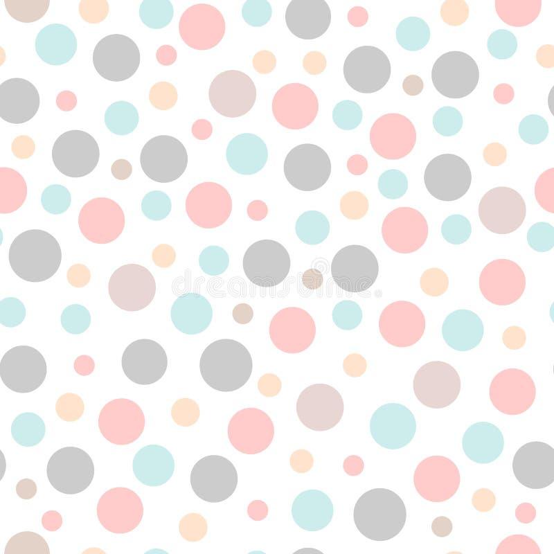Безшовная картина партии с различными точками размеров Фон, оборачивая, дизайн ткани иллюстрация вектора