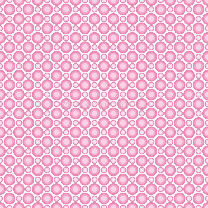 Безшовная картина пастельных розовых кругов Предпосылка для тканей, о бесплатная иллюстрация
