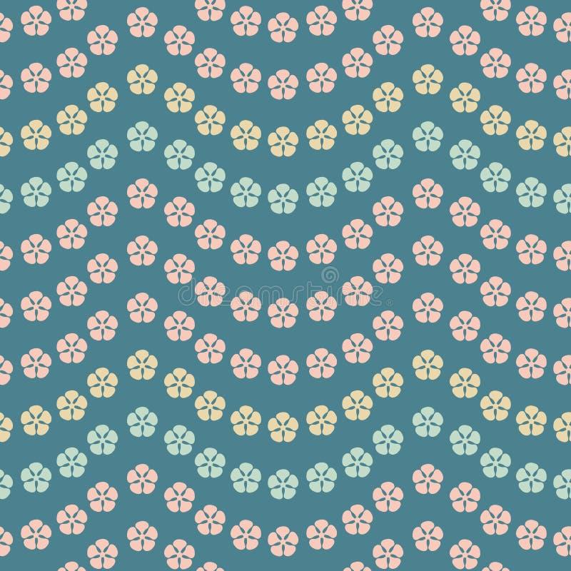 Безшовная картина повторения вектора тропических гирлянд цветка Сладкий поверхностный дизайн картины иллюстрация штока
