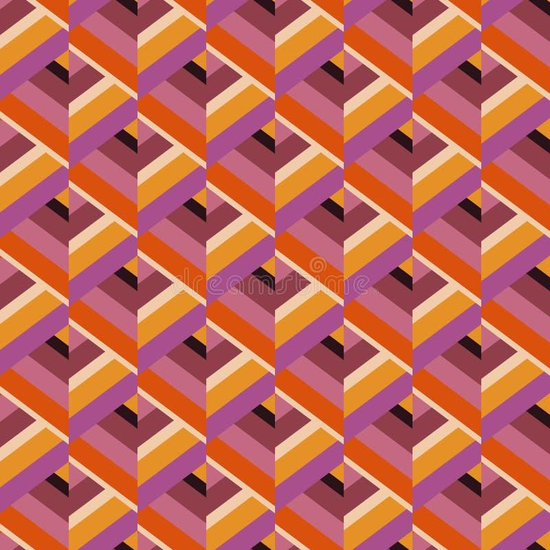 Безшовная картина покрашенных нашивок Предпосылка вектора бесплатная иллюстрация