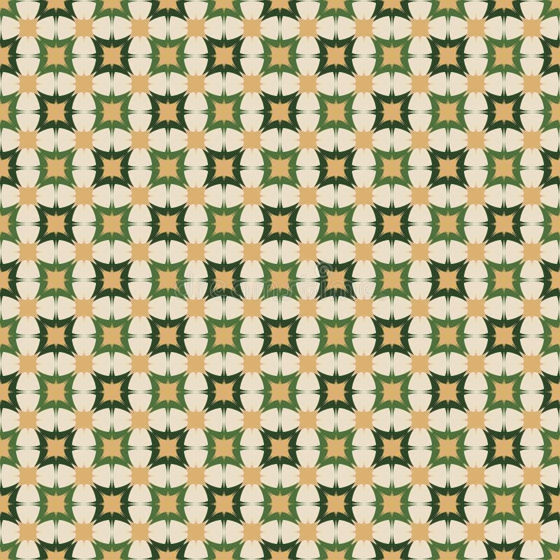 Безшовная картина предпосылки с повторять квадратный орнамент иллюстрация штока