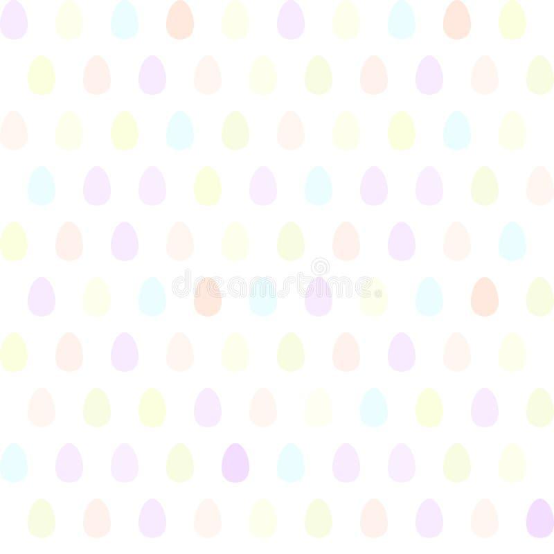 Безшовная картина при пасхальные яйца других цветов изолированные на белизне Милая иллюстрация вектора бесплатная иллюстрация