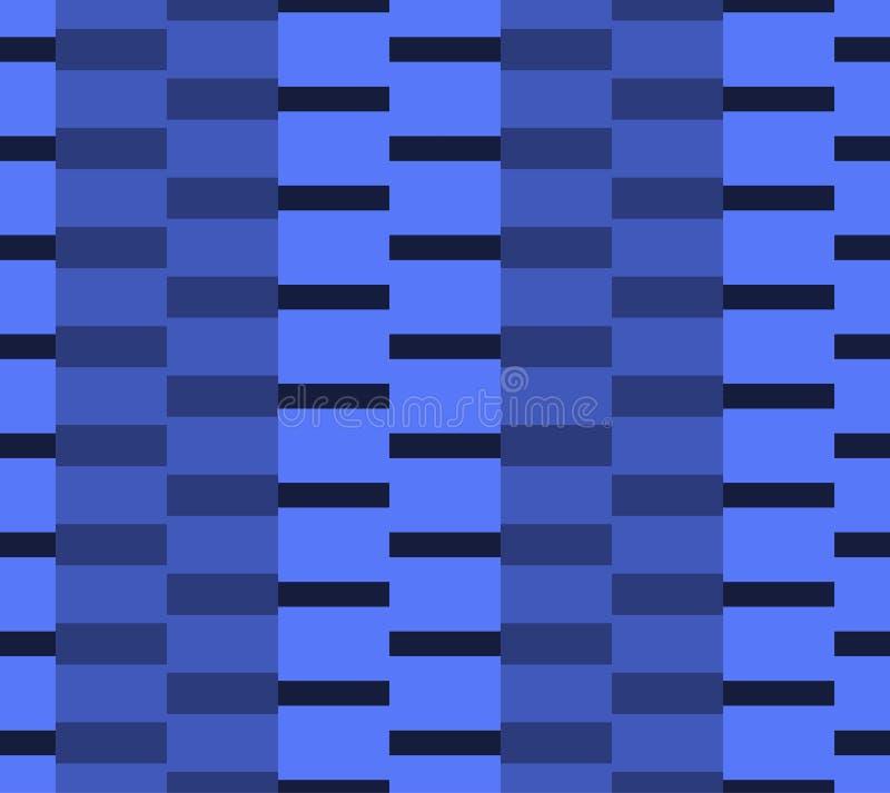 Безшовная картина прямоугольников различных размеров, в голубых цветах иллюстрация штока