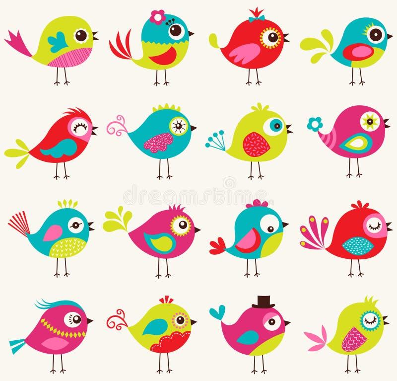 Безшовная картина птицы шаржа бесплатная иллюстрация
