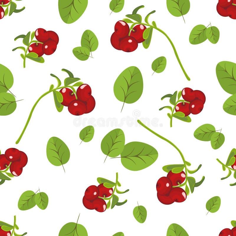 Безшовная картина реалистического изображения зрелых ягод Шаблон для бесплатная иллюстрация