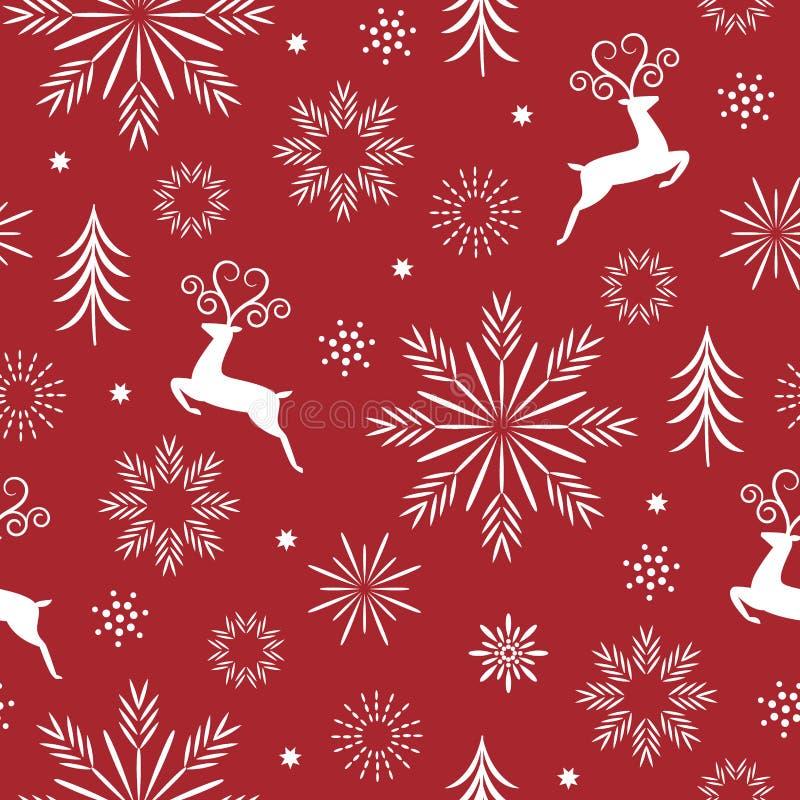 Безшовная картина рождества и Нового Года иллюстрация вектора