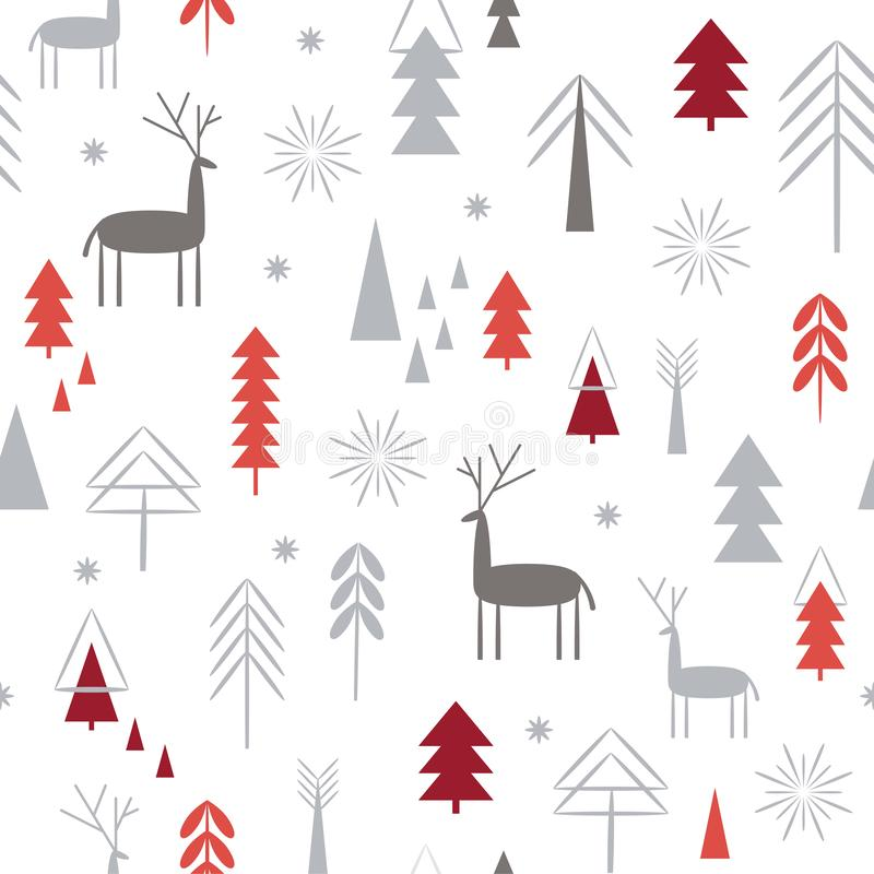 Безшовная картина рождества бесплатная иллюстрация