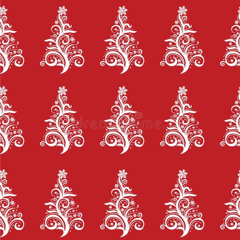 Безшовная картина рождественской елки! Вектор eps10 стоковые фотографии rf