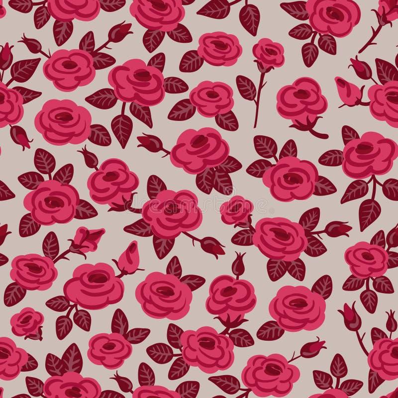 Безшовная картина роз. иллюстрация штока