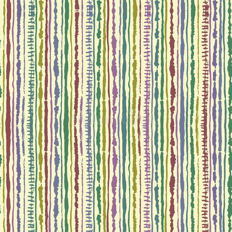Безшовная картина связ-краски shibori вектора цвета индиго на белом шелке Ткани картины руки - узелковый батик иллюстрация штока