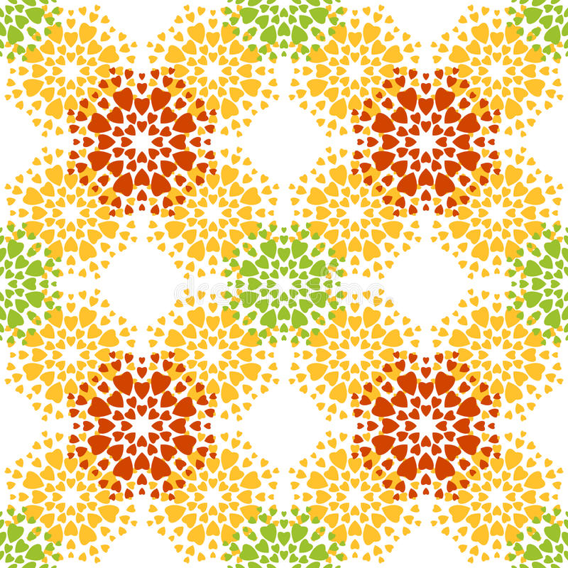 Безшовная картина, семена калины иллюстрация штока