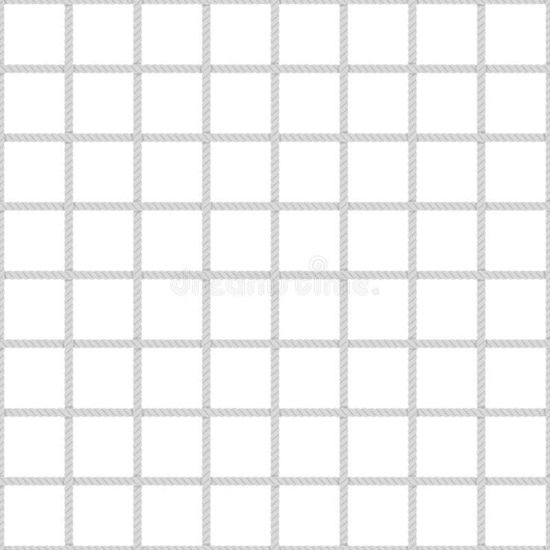Безшовная картина сетки веревочки иллюстрация штока
