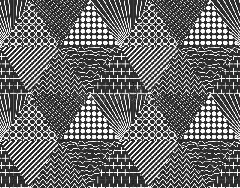 Безшовная картина состоя из абстрактных треугольников, может служить как крышка для ваших дизайнов, иллюстрация вектора иллюстрация вектора