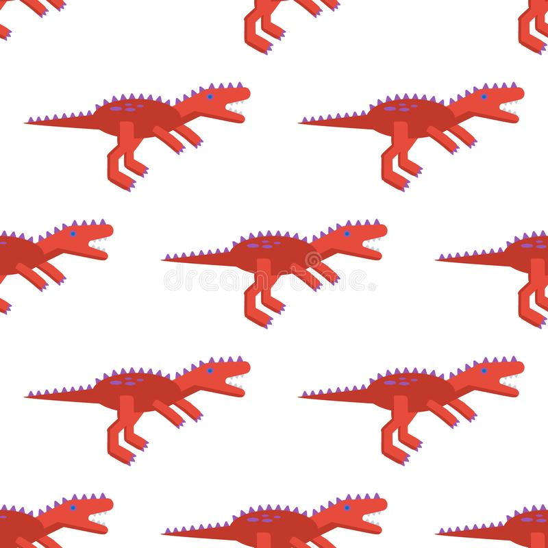 Безшовная картина со значком тиранозавра Предпосылка с динозавром для различного дизайна иллюстрация штока