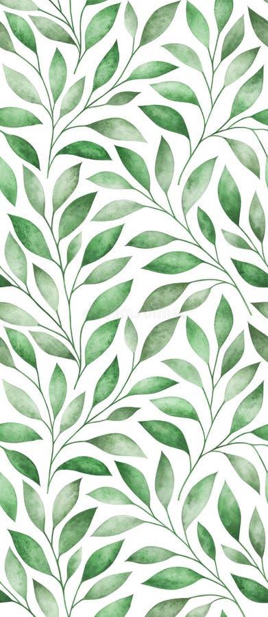 Безшовная картина со стилизованными ветвями дерева r бесплатная иллюстрация