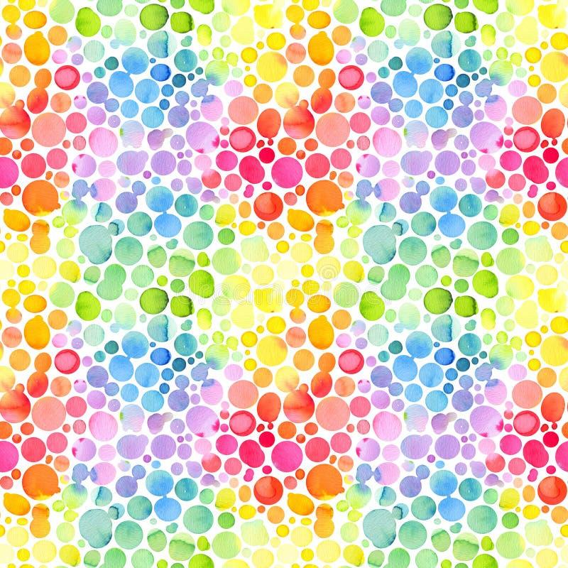 Безшовная картина с абстрактными шарами, цвета радуги бесплатная иллюстрация