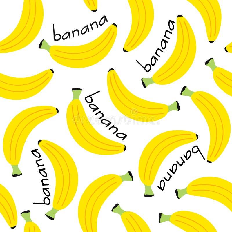 Безшовная картина с бананом иллюстрация штока