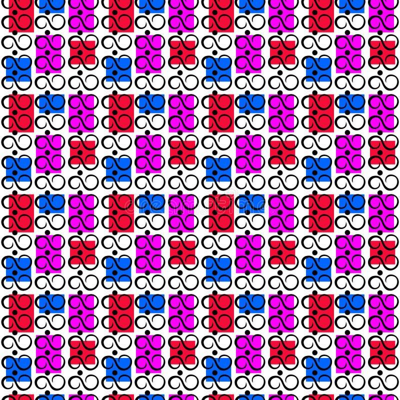 Безшовная картина с безграничностью подписывает на пестротканой предпосылке иллюстрация вектора