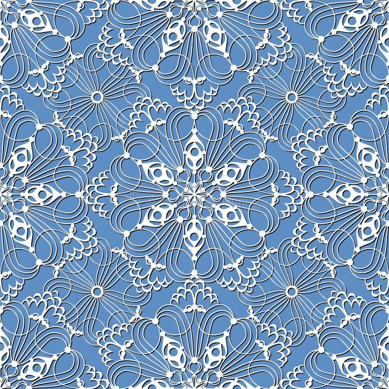 Безшовная картина с белыми снежинками бесплатная иллюстрация