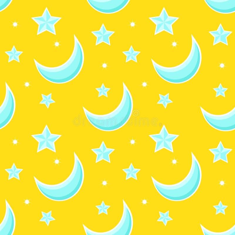 Безшовная картина с звездой шаржа Предпосылка вектора бесплатная иллюстрация