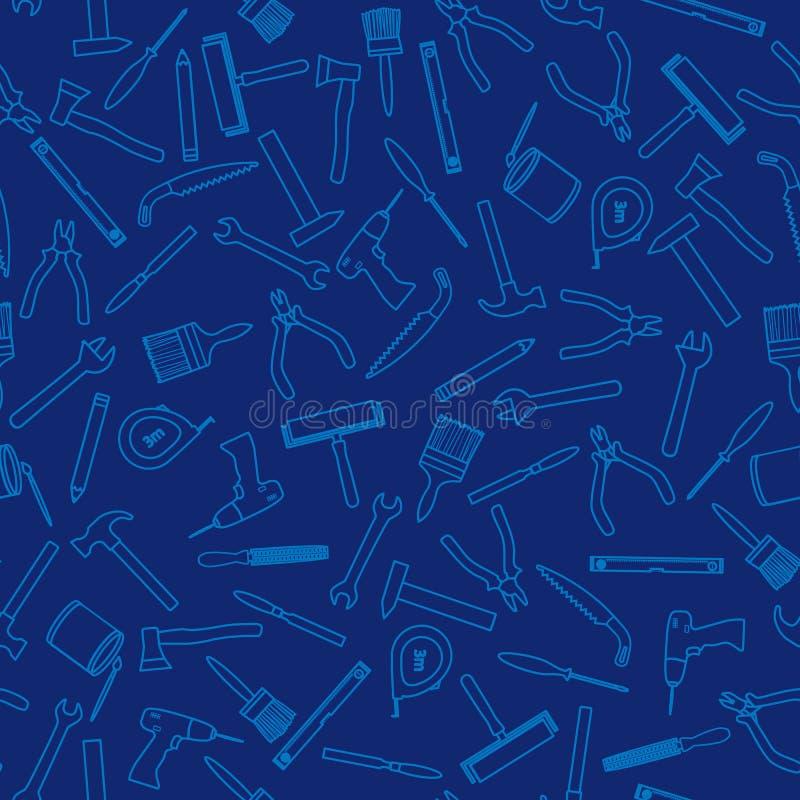 Безшовная картина с инструментами деятельности для ремонта и конструкции бесплатная иллюстрация