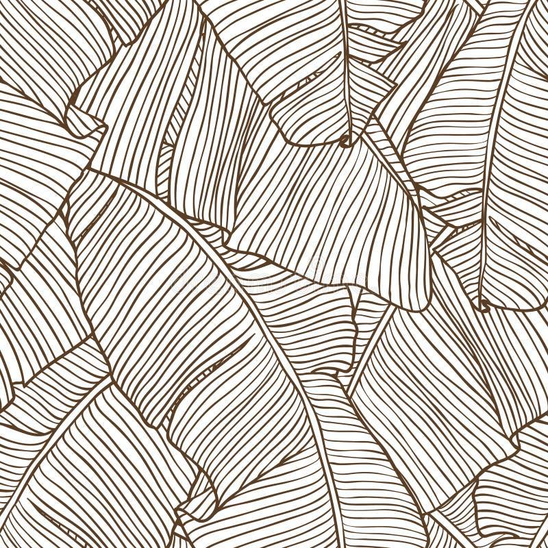 Безшовная картина с листьями пальмы бесплатная иллюстрация