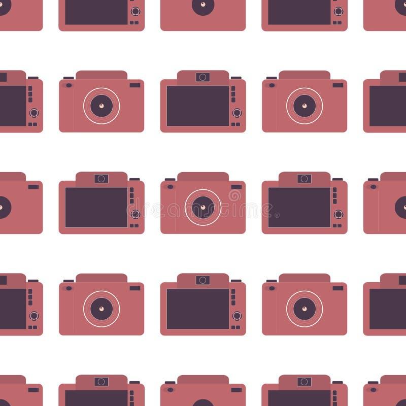 Безшовная картина с камерами фото стоковая фотография
