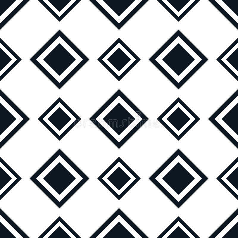 Безшовная картина с косоугольником - предпосылкой конспекта геометрической квадратной бесплатная иллюстрация