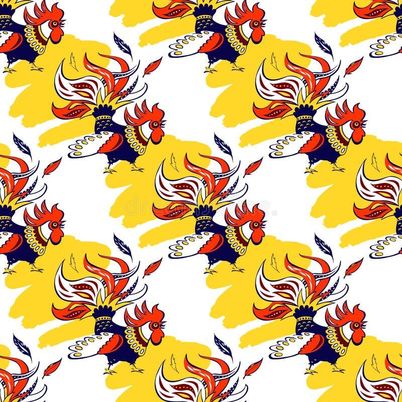 Безшовная картина с краном силуэта Иллюстрация el иллюстрация вектора